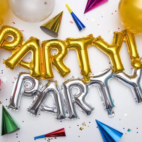 Bong bóng chữ Party