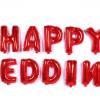 Bóng bạc Happy wedding đỏ
