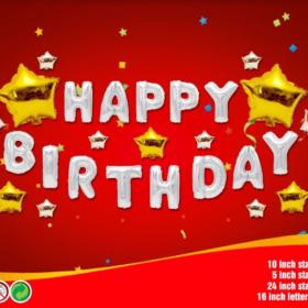 Chữ happy birthday sao sáng