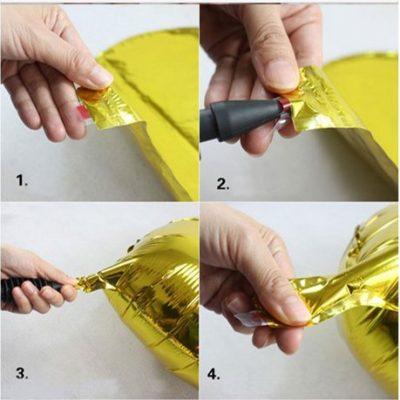 Cách bơm bong bong bạc