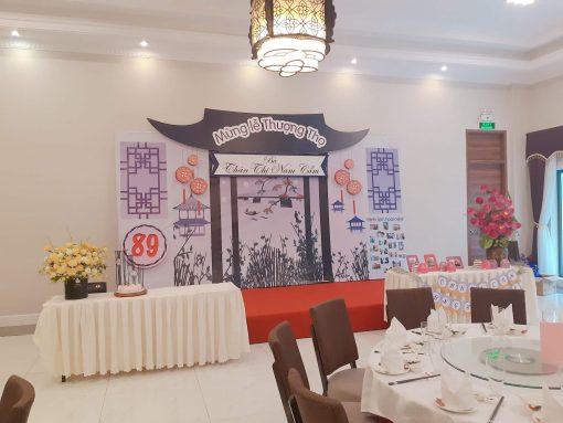Backdrop sinh nhật trang trí phong cách Trung Hoa