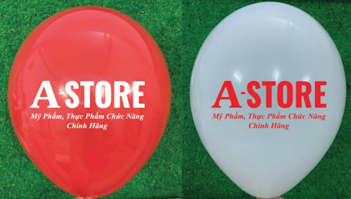 In Logo A-STORE và chữ lên bong bóng bay 2