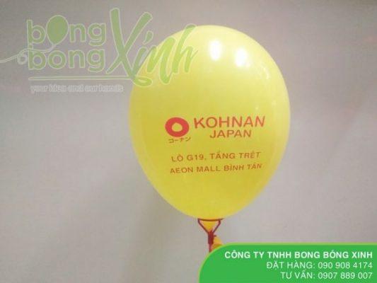 In logo KOHNAN JAPAN lên bong bóng tphcm giá rẻ